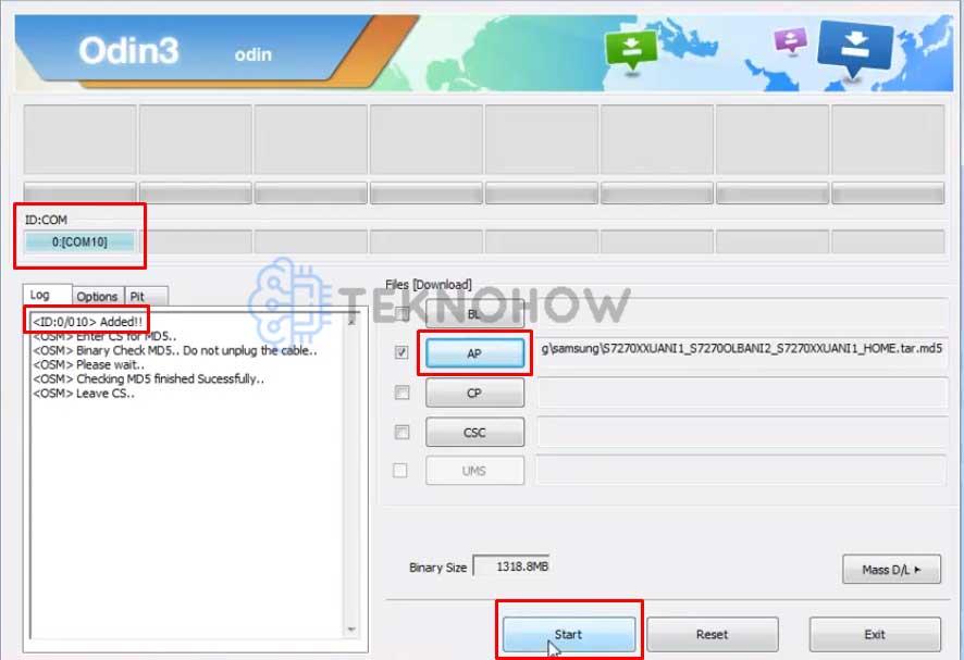 Masukkan Firmware Samsung Ace 3
