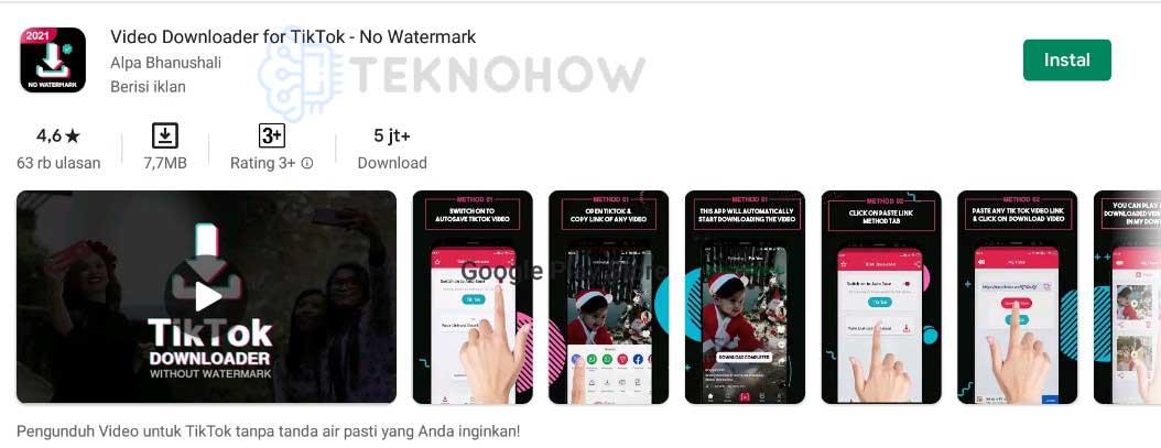 Video Downloader For Tiktok - Cara Download Video Tiktok